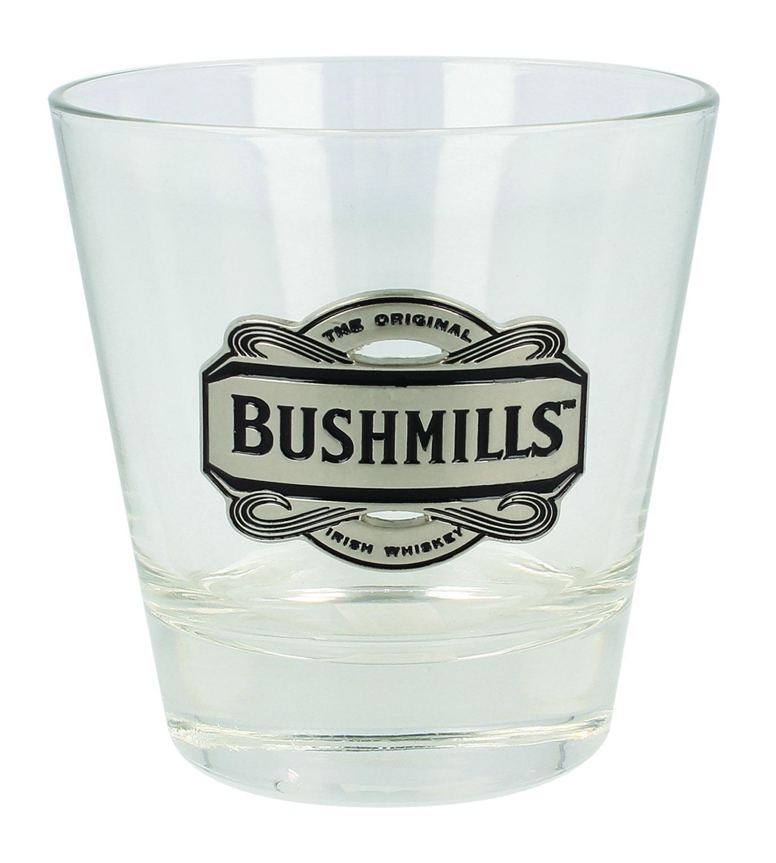 Bubble Base  Whisky Glass With Irish Shamrock Design in gift box