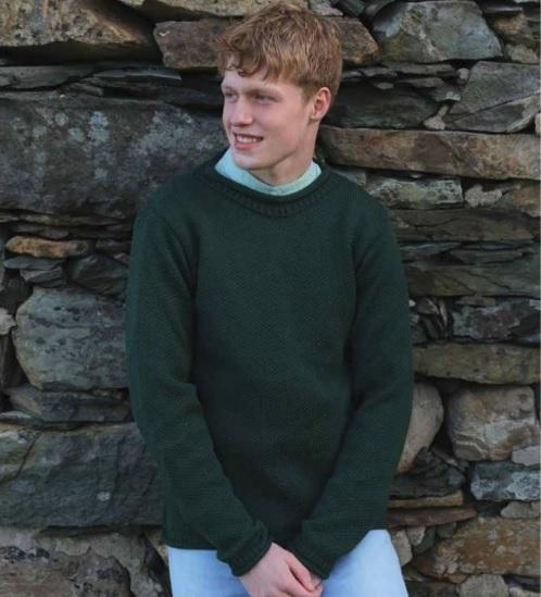 Mens-Wool-Sweater-Roll-Neck-Aran-Woollen-Mills-Pullover thumbnail 12