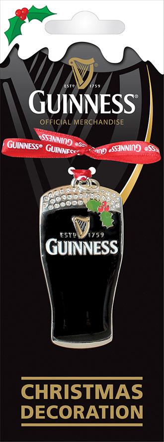 Guinness Christmas ornament Metal Decoration Pint Harp ...