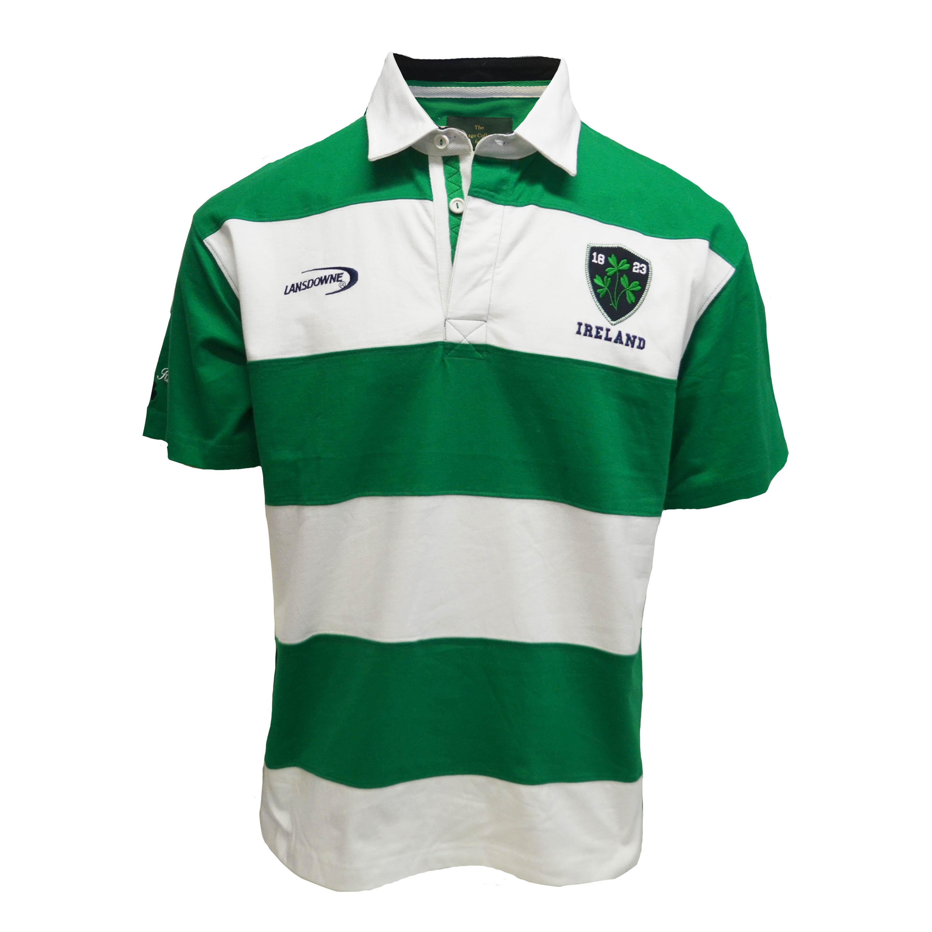 Ireland Stripe Short Sleeve Rugby Shirt