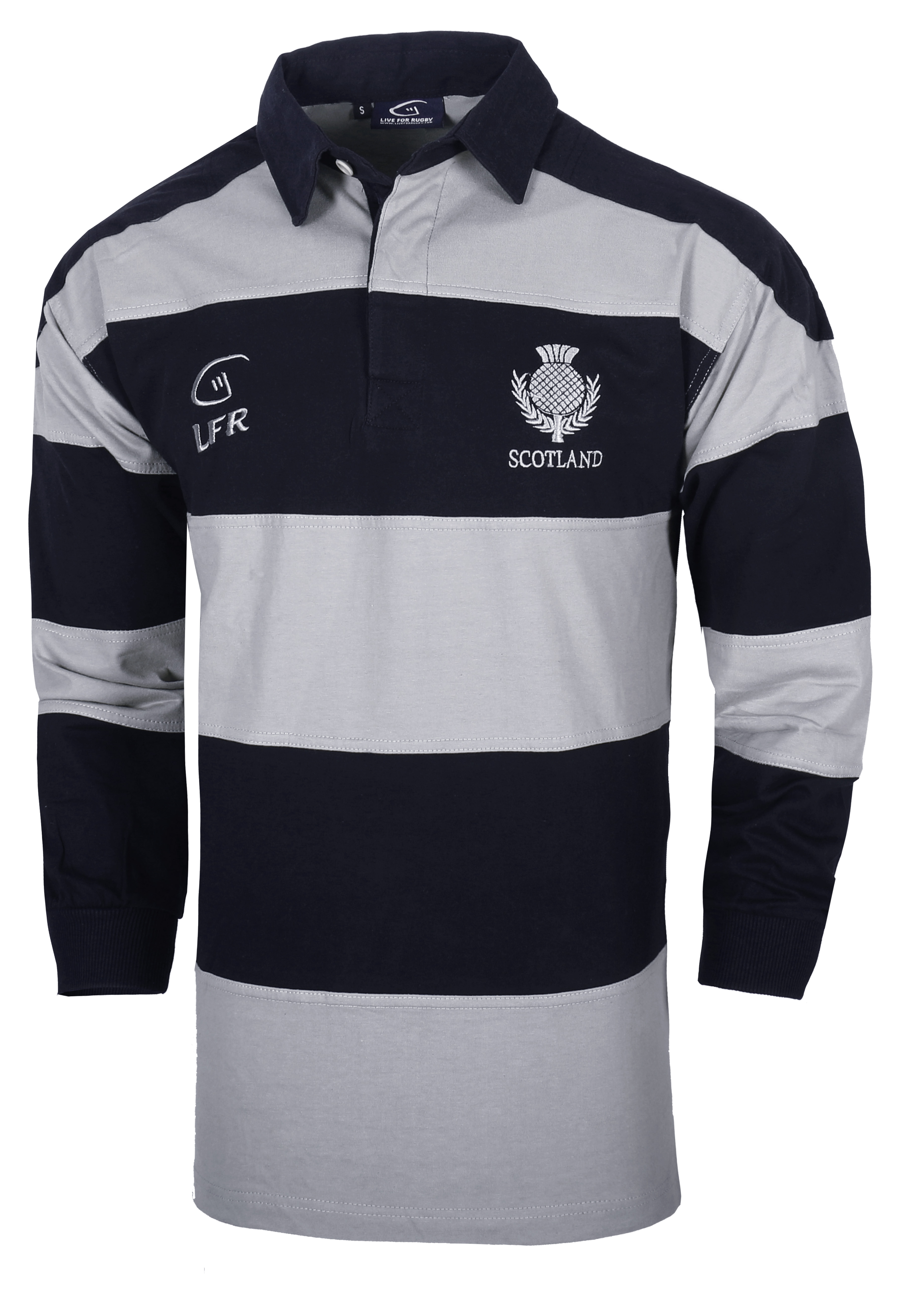 f9471d65d55 Rugby Shirt Scotland Long Sleeved Striped Shirt Cotton Pullover ...