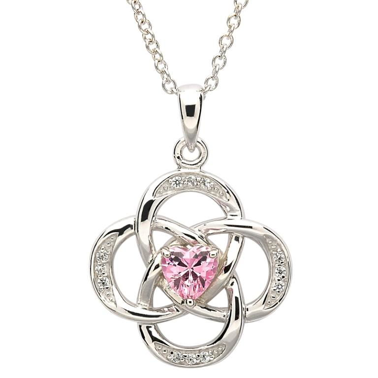 best service discount shop innovative design Sterling Silver Necklace October Birthstone Opal Cubic Zirconia 18 ...