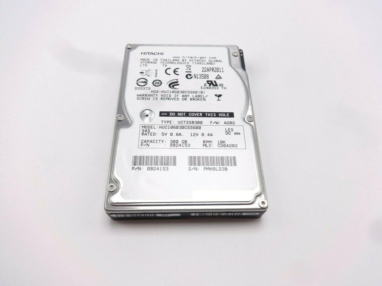 Hitachi 300Gb 10K 6Gbps SAS 2.5 Hard Drive
