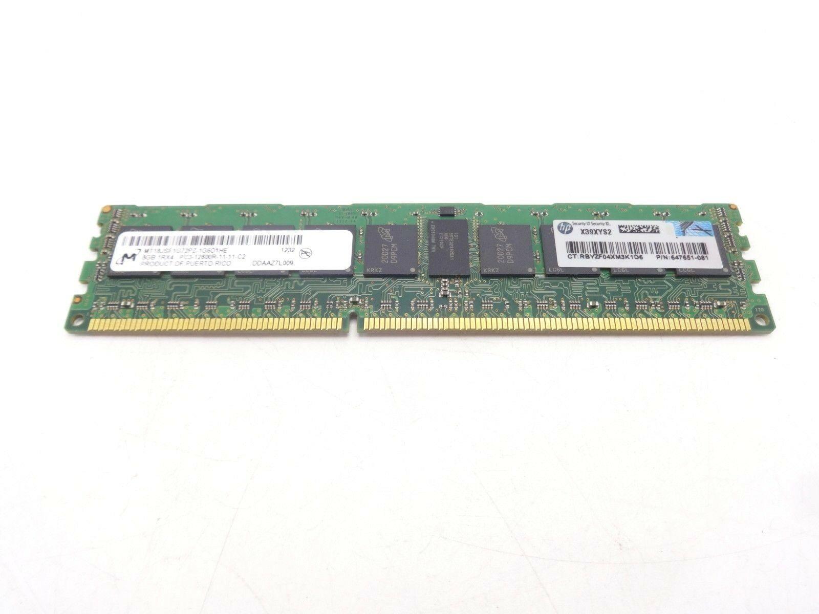 1x8GB HMT31GR7BFR4C-PB HYNIX 8GB 2Rx4 PC3-12800R 1.5V MEMORY MODULE