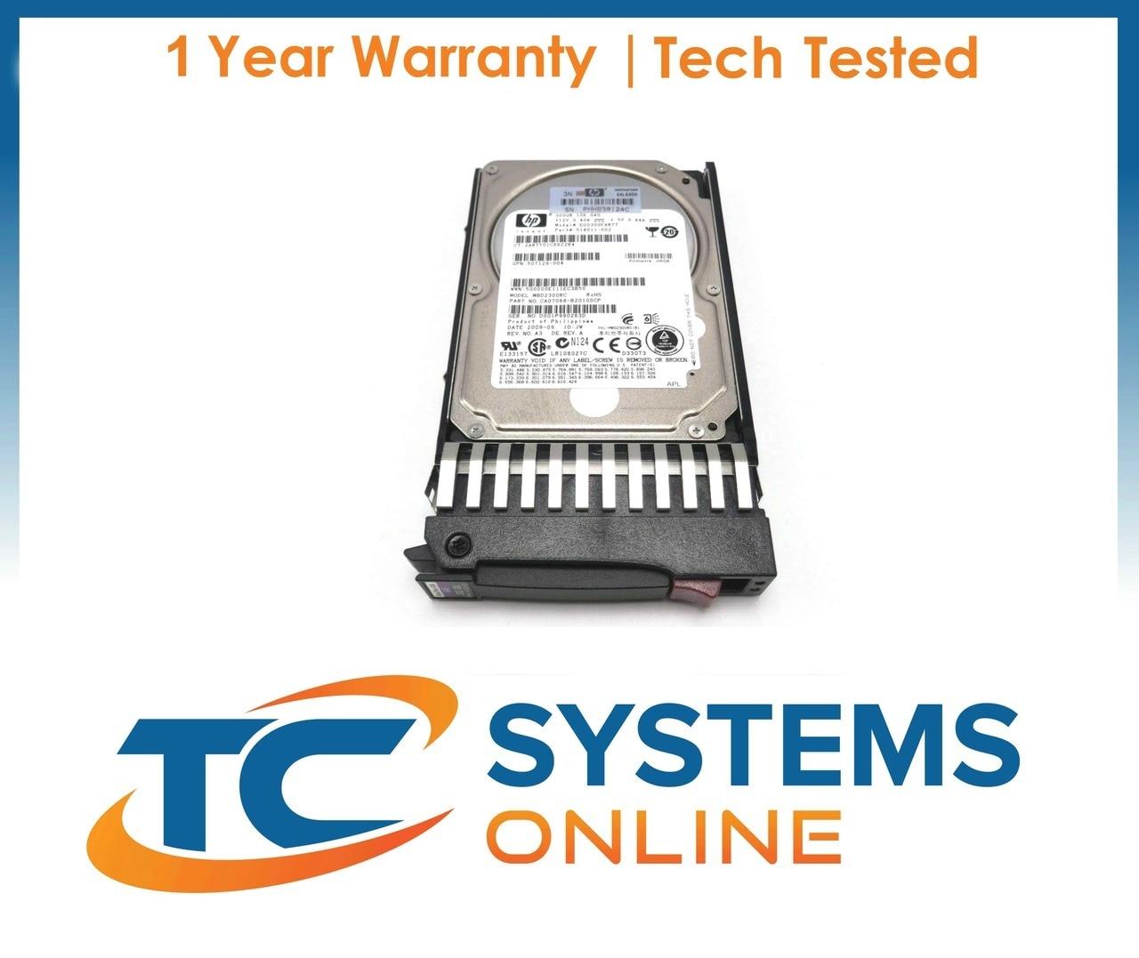 """HP Proliant DL380 G6 300GB SAS 2.5/"""" 10K 3GB Hard Drive HH1010"""