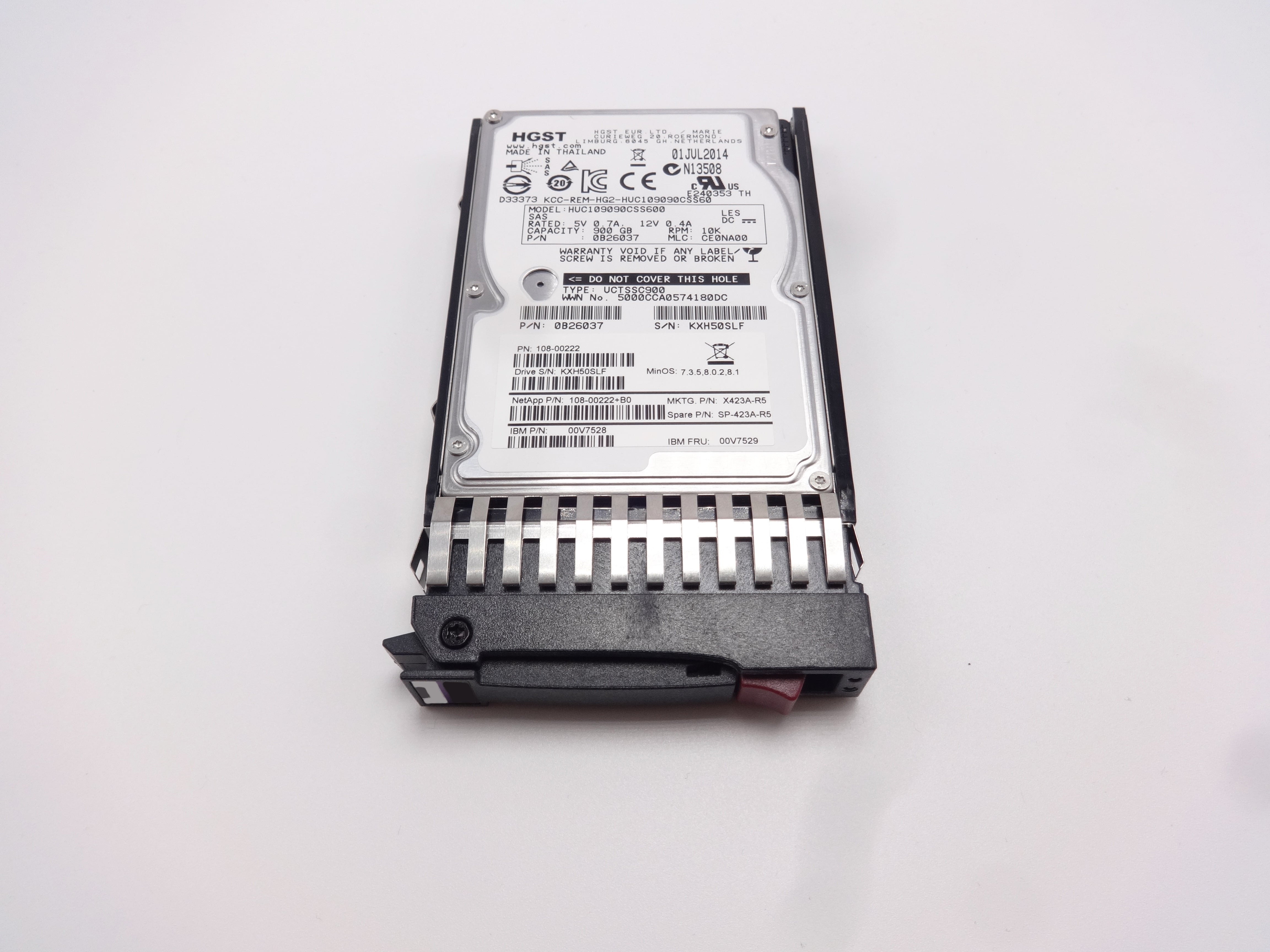 "Dell Poweredge R420 900GB SAS 10k 2.5/"" 6GBPS Compatible Hard Drive A11"