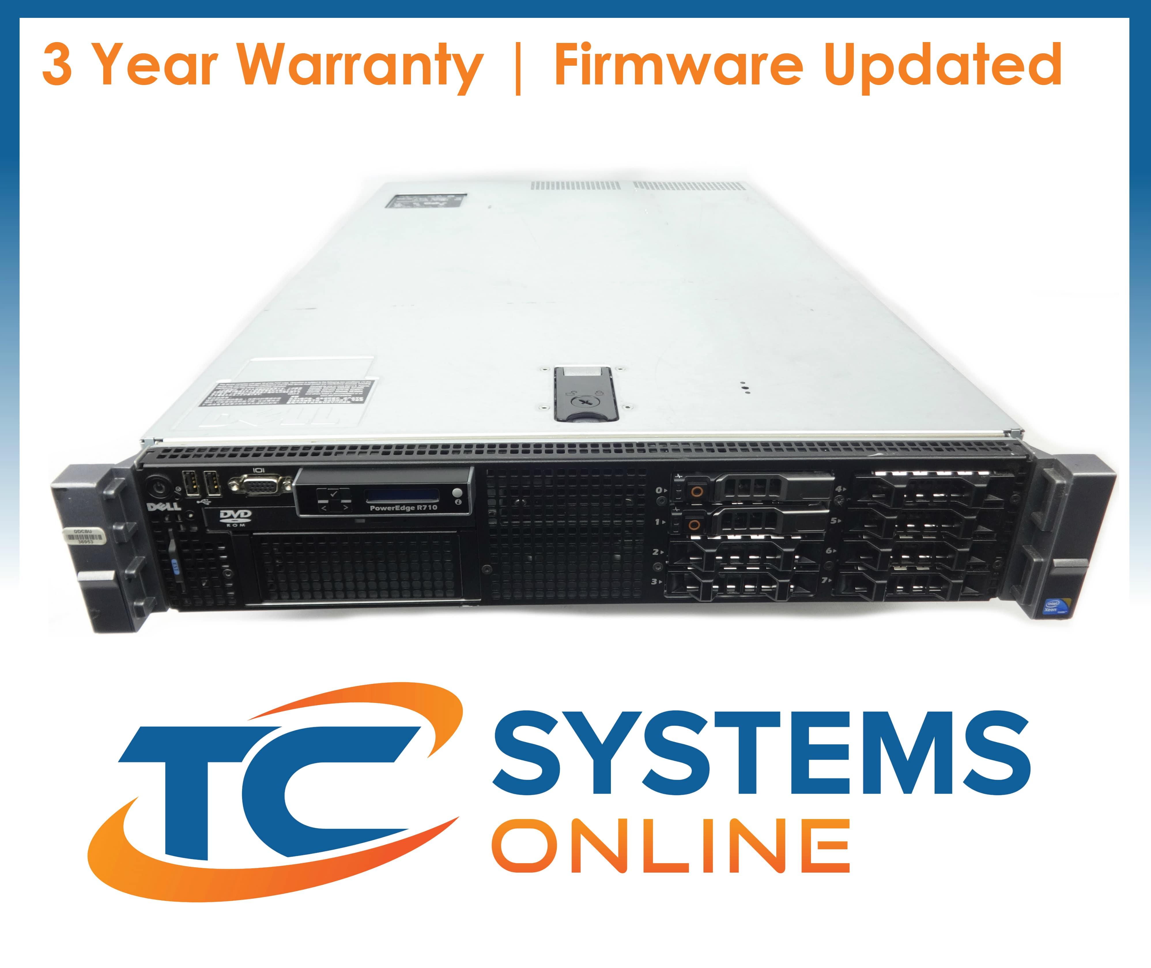 Dell PowerEdge R710 Virtualization Server 8-Core 48GB 4x300GB 10K 1.2TB PERC6i