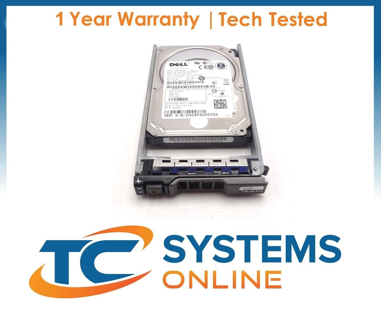 "Dell Poweredge R620 300GB SAS 6GBPS 2.5/"" 10k Hard Drive STK1038"