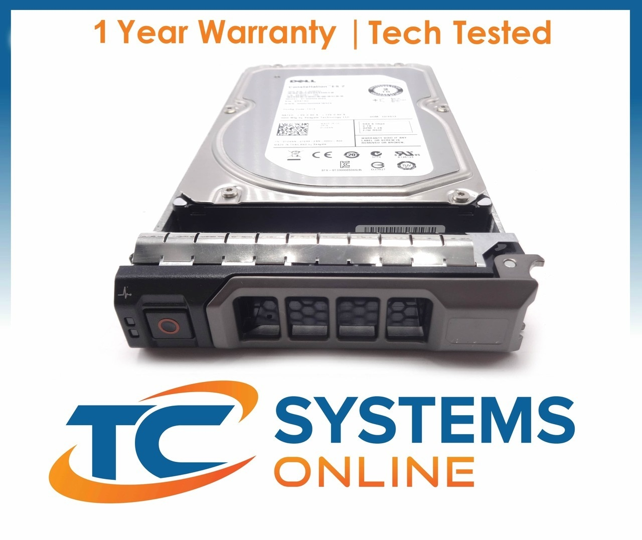 "Dell Poweredge R310 2TB 7200RPM NL SAS 6GBPS 3.5/"" Hard Drive SK1024"
