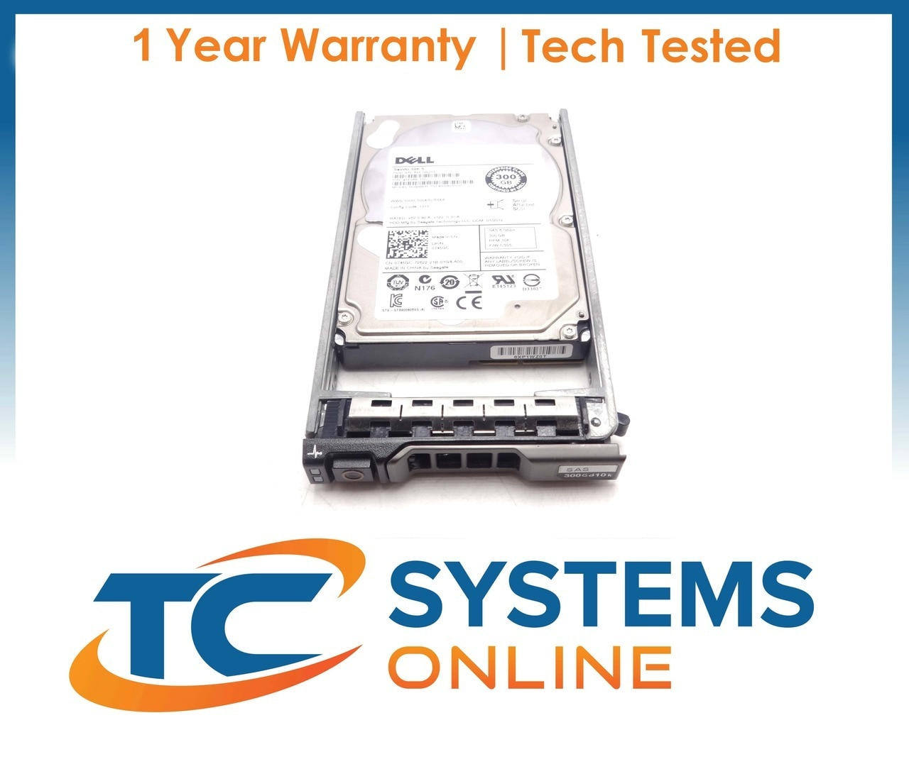 "Dell Poweredge R715 300GB 10K 2.5/"" SAS 6GBPS Hard Drive STK1011"