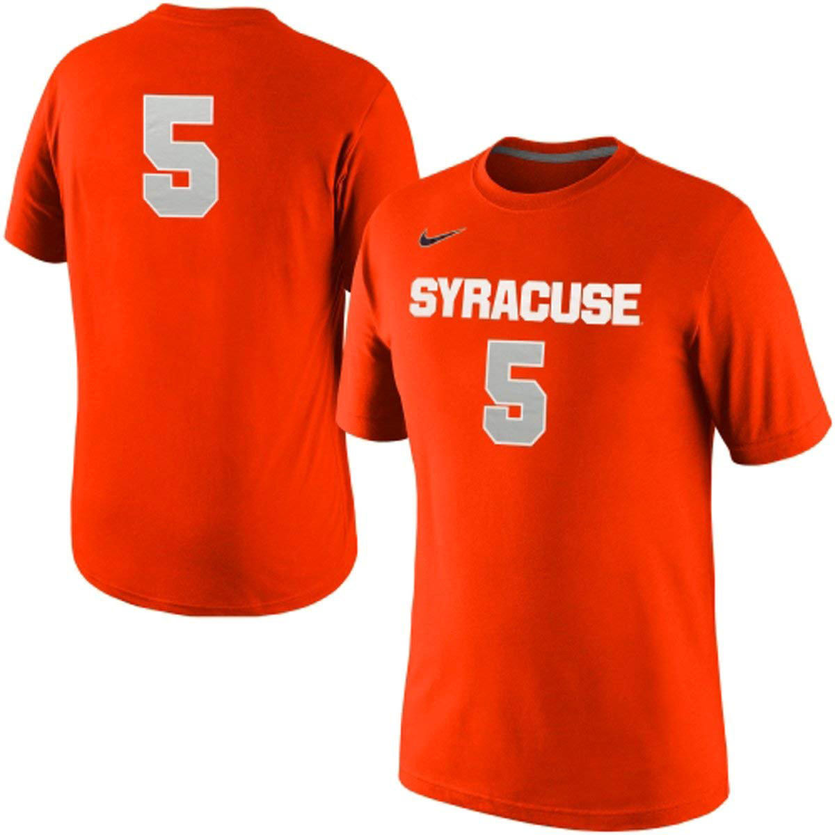 low priced bed9a 6abc7 Details about Nike Syracuse Orange #5 Replica Basketball Jersey T-Shirt NEW