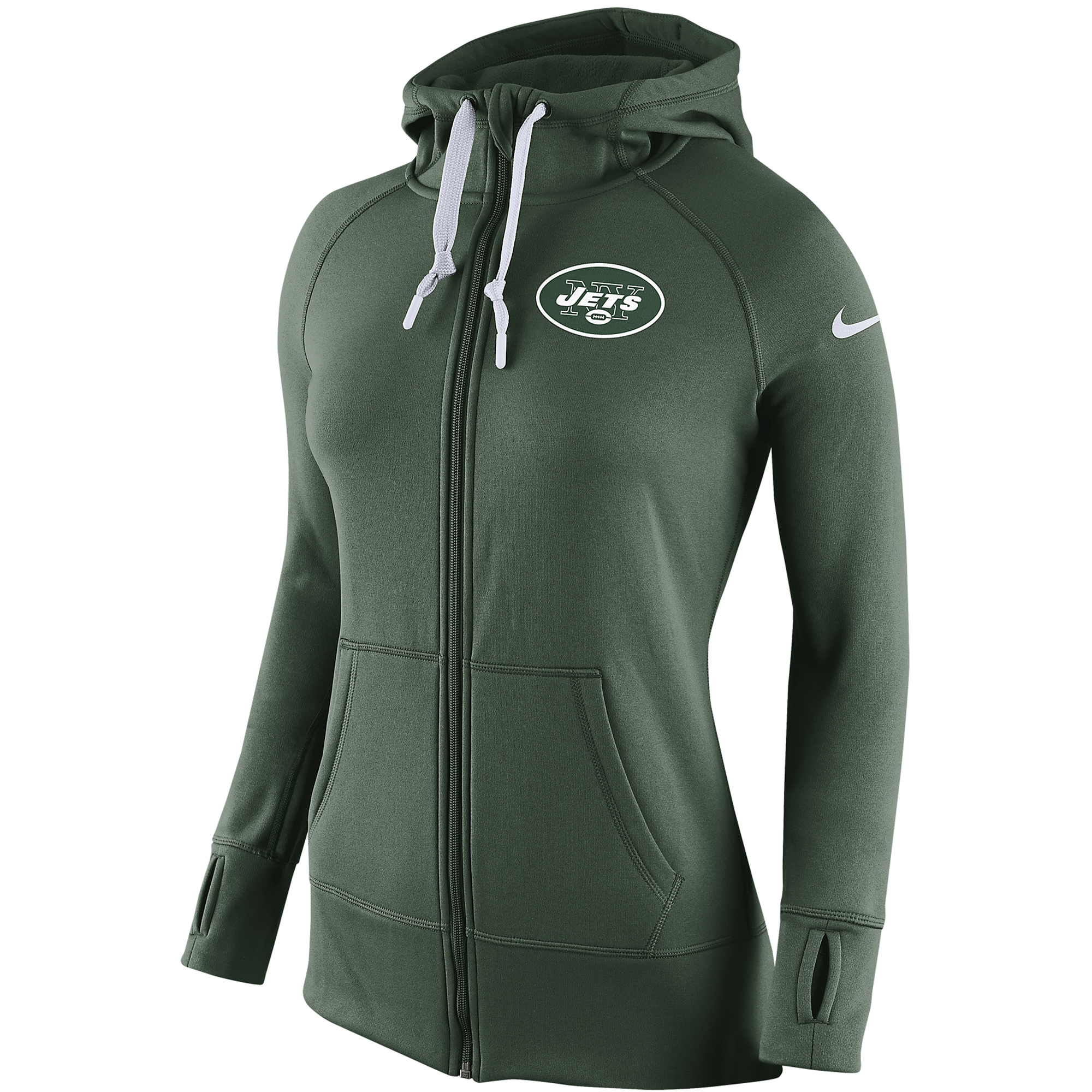 0f8041a66196 Details about Nike Womens New York Jets Warpspeed All Time Therma-Fit Zip  Fleece Hoodie NEW