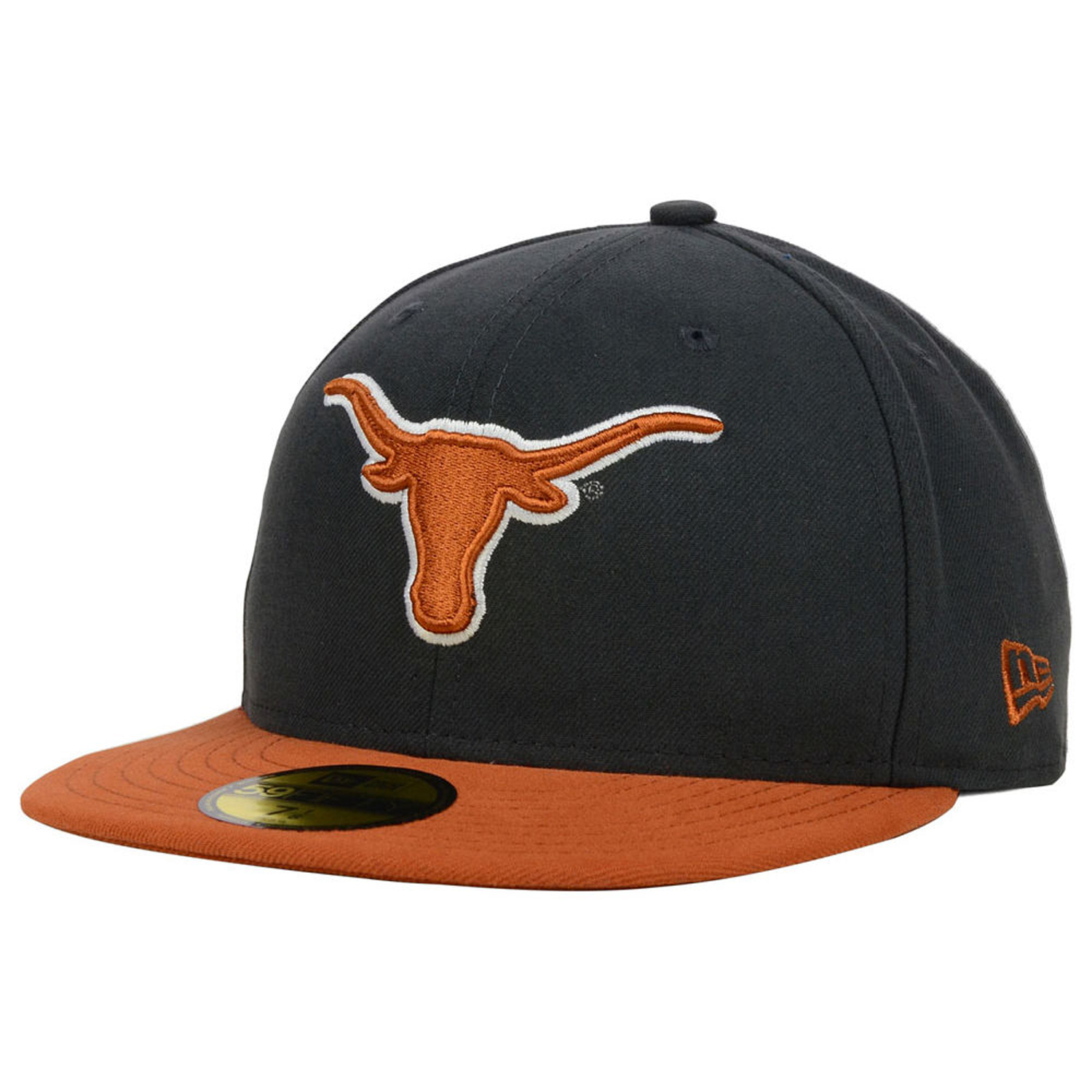 26e340aaabc8b Details about New Era Texas Longhorns 2-Tone Graphite 59Fifty Fitted Cap Hat