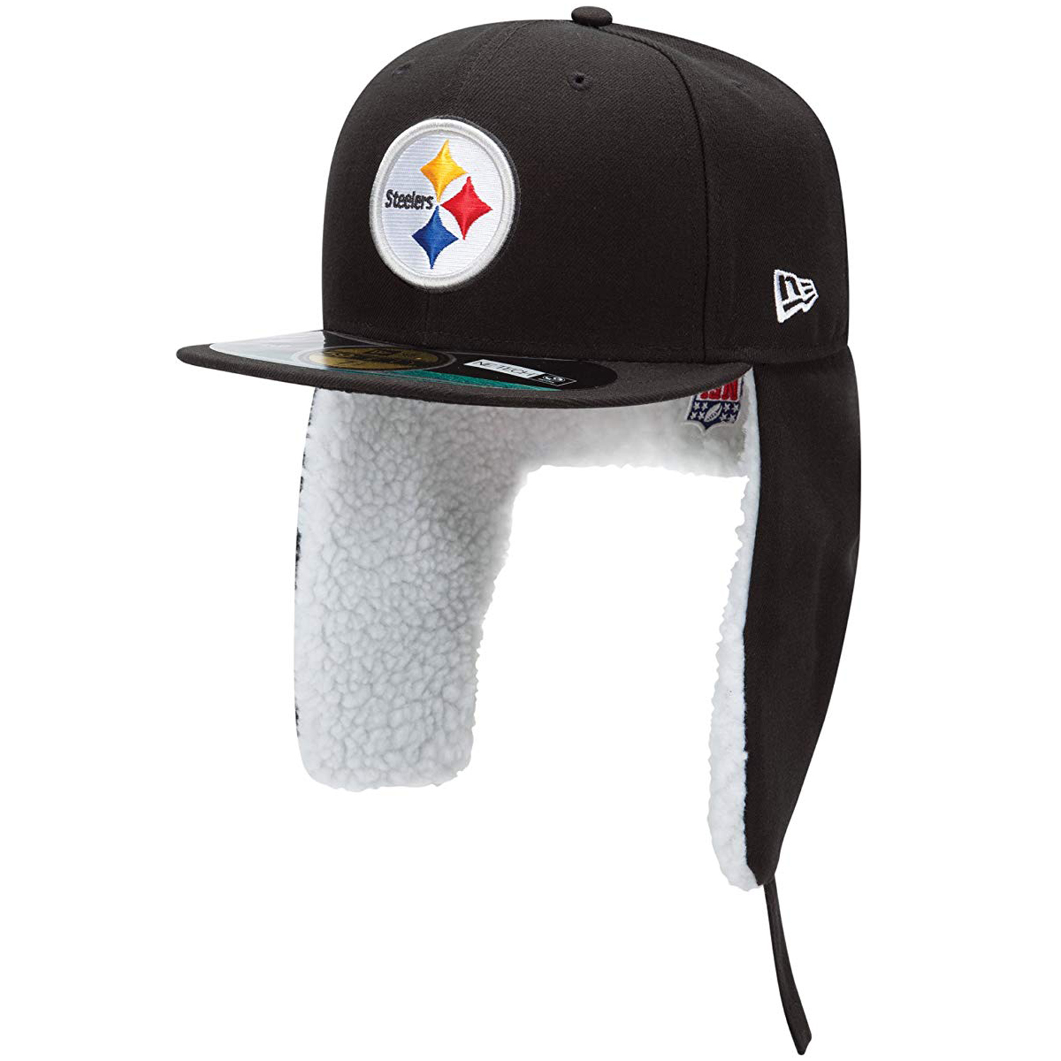 Details about New Era Pittsburgh Steelers On Field Dog Ear Flap Trapper  59Fifty Fitted Cap Hat f3c974c24b3
