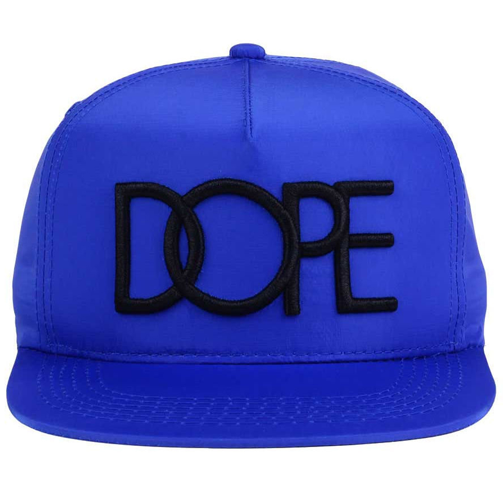 8fafb66f550717 Details about Dope Couture Neon Nylon Lightweight Snapback Cap Hat-Blue