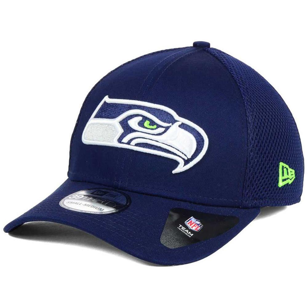 Details about New Era Seattle Seahawks Mega Team Neo 39Thirty Flex Stretch  Fit Cap Hat c34fd0f68