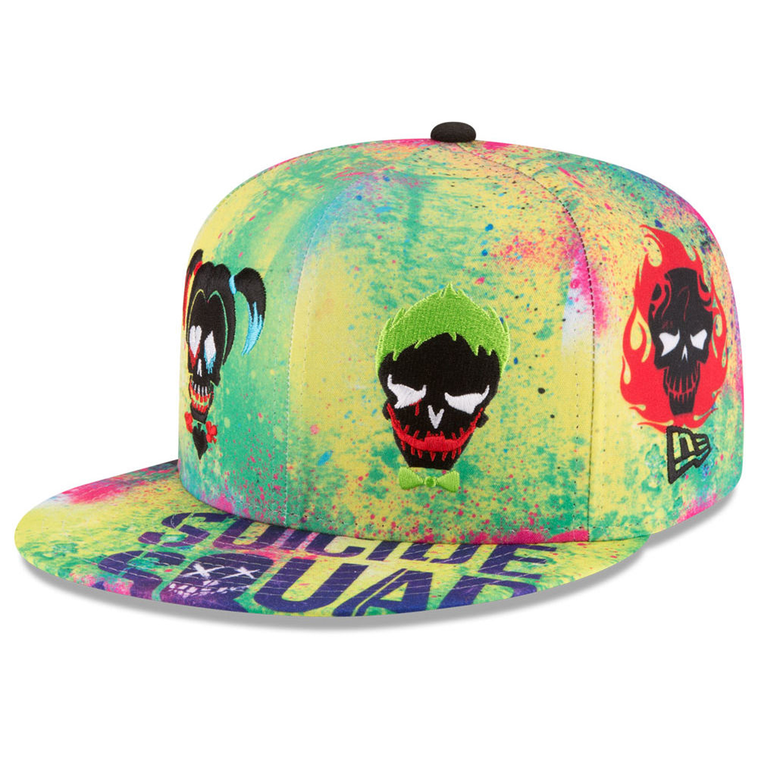 Details about New Era DC Comics Suicide Squad All Over Skulls 59Fifty Fitted  Cap Hat 029a20fe172