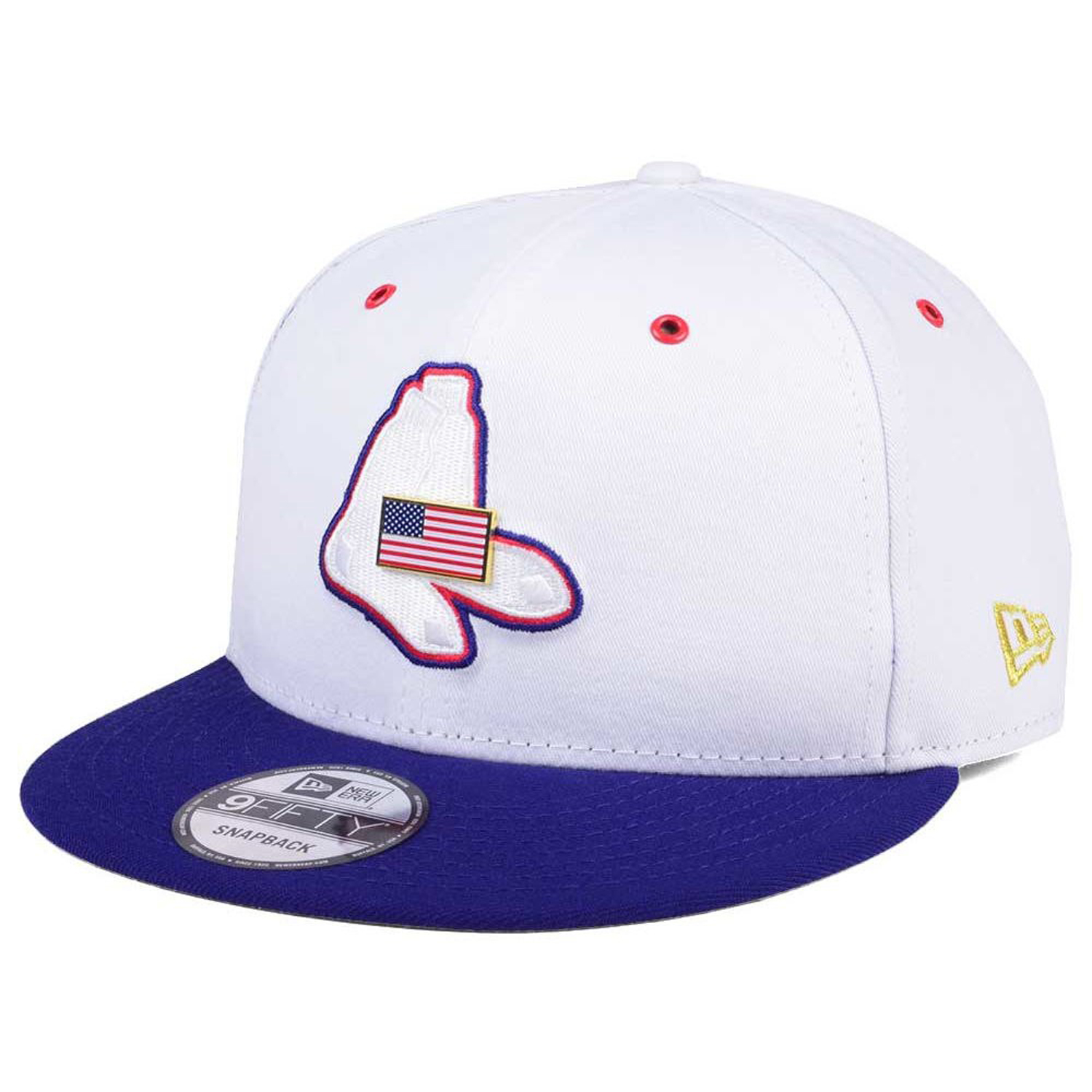 2069cbf2a71241 Details about New Era Boston Red Sox Metal Pin USA American Flag 9Fifty  Snapback Cap Hat