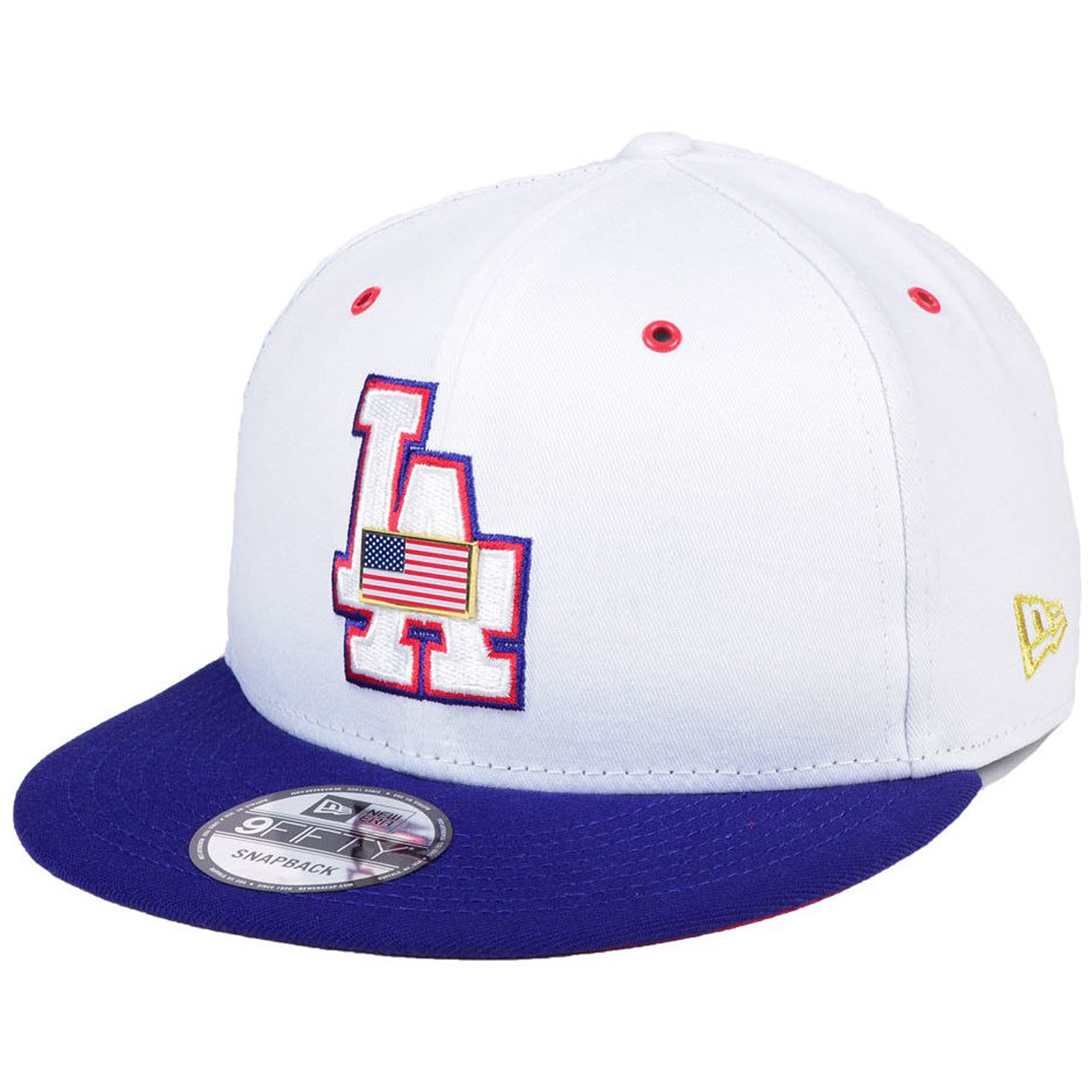 9519e68b3aa Details about New Era Los Angeles Dodgers Metal Pin USA American Flag 9Fifty  Snapback Cap Hat