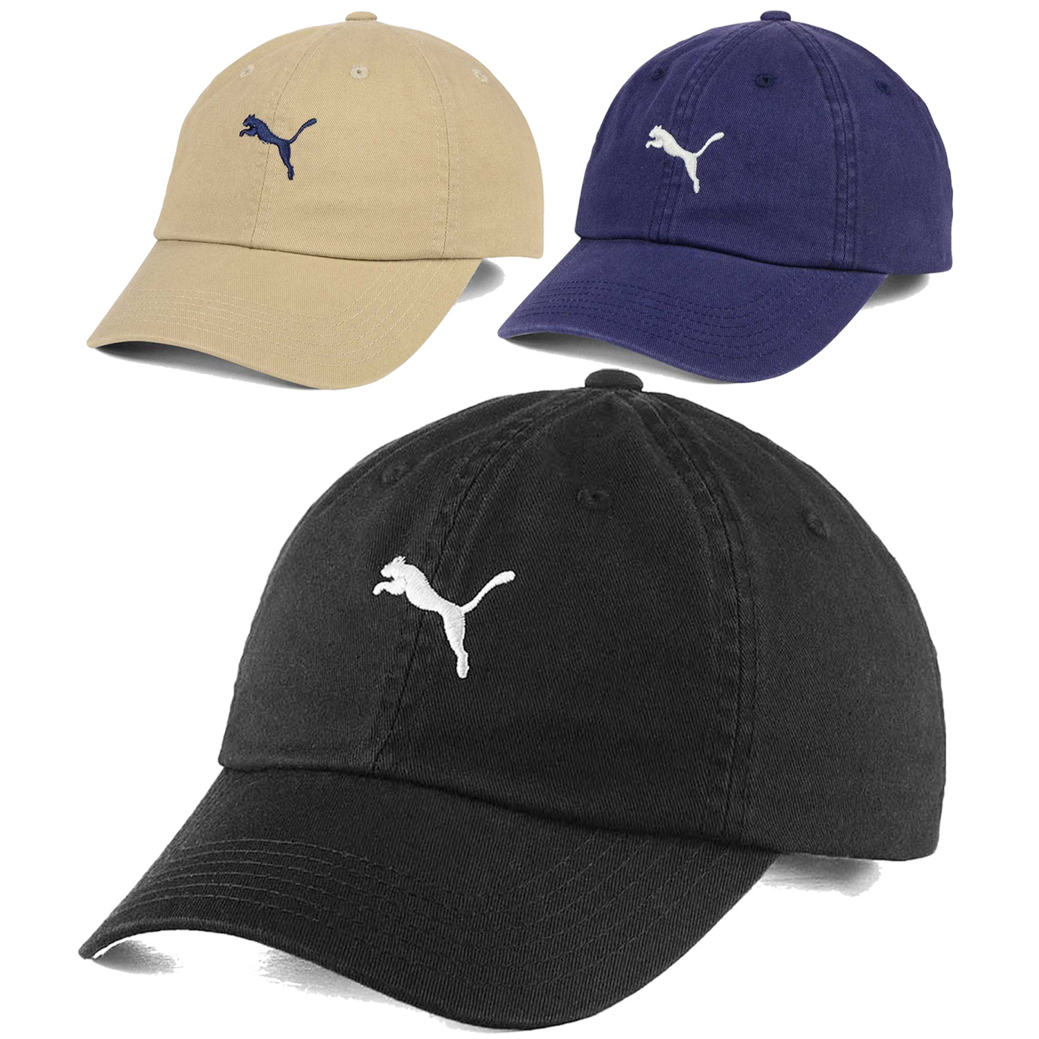 Details about Puma Leaping Cat Logo Polo Leather Strapback Washed Slouch  Dad Golf Cap Hat NEW 4ecff48ff88