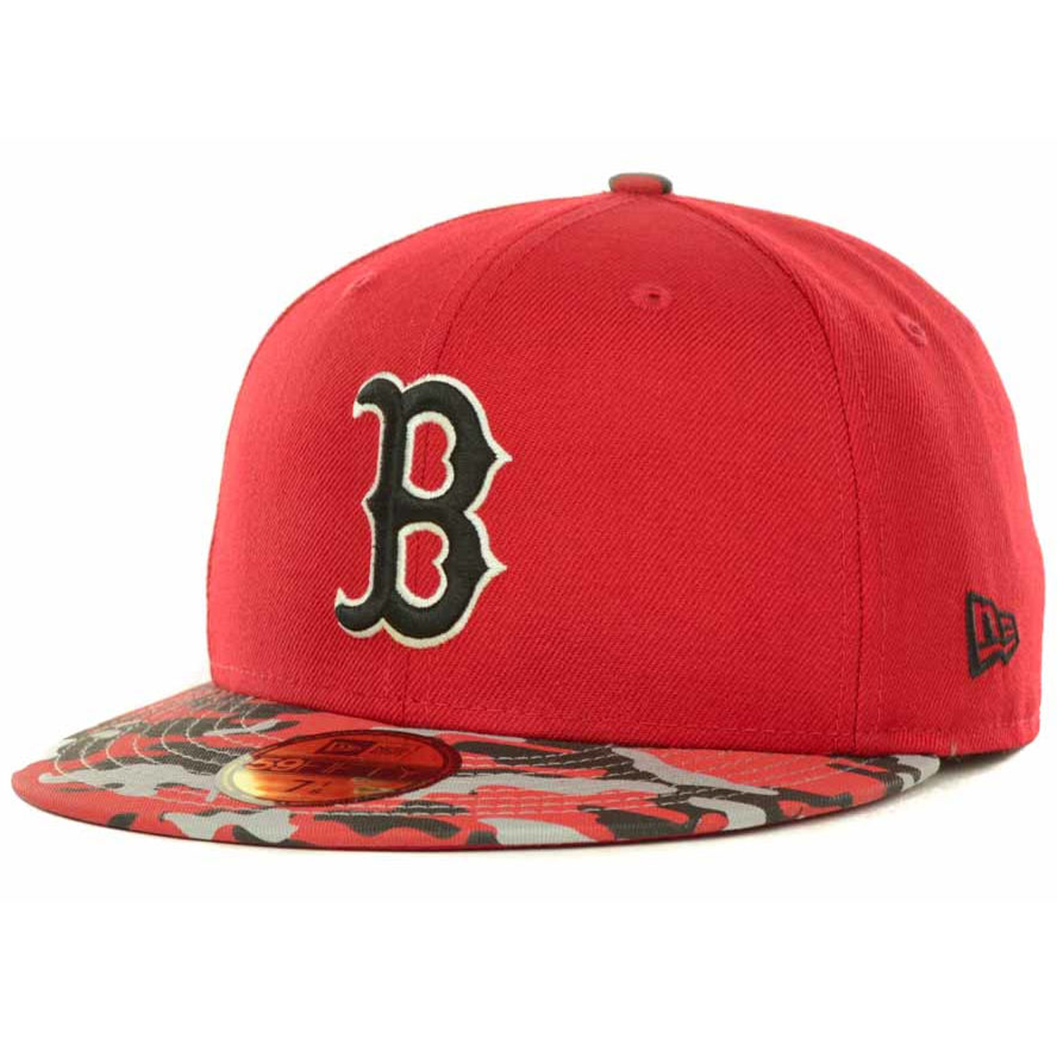 d8083786b Details about New Era Boston Red Sox In Living Camo Visor Team Color  59Fifty Fitted Cap Hat