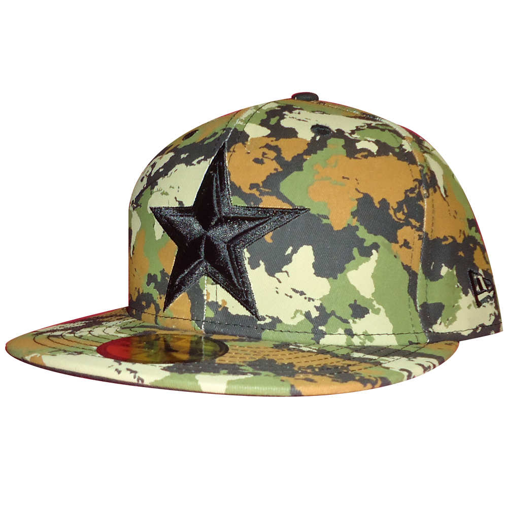 502c5e8bad Details about Dallas Cowboys New Era World Map Woodland Camo 59Fifty Fitted Cap  Hat RARE NEW