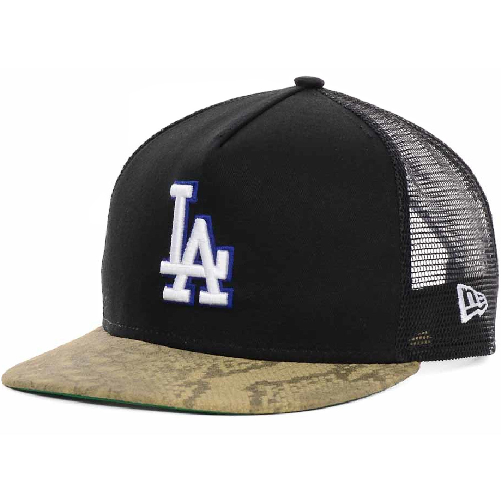 Details about Los Angeles Dodgers LA New Era Snakeskin Trucker Mesh Strapback  9FIFTY Hat Cap 3035635cc8a