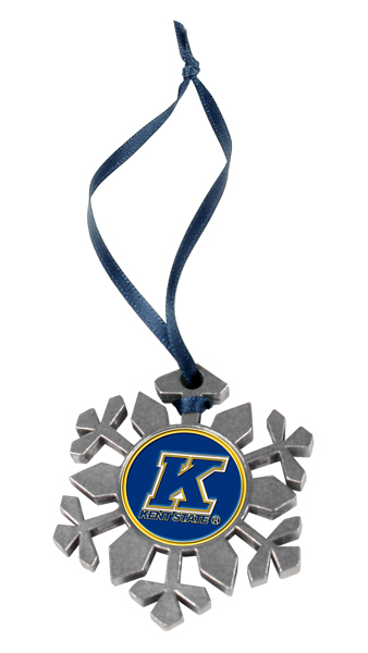 Kent State Golden Flashes Snowflake Ornament