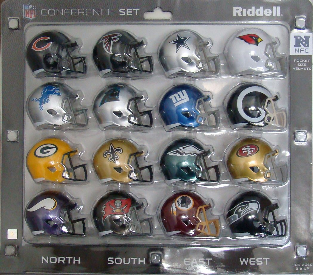 2018 NFC Conference Pocket Pro Size Speed Mini NFL Helmets Set by Riddell 95855321509  eBay