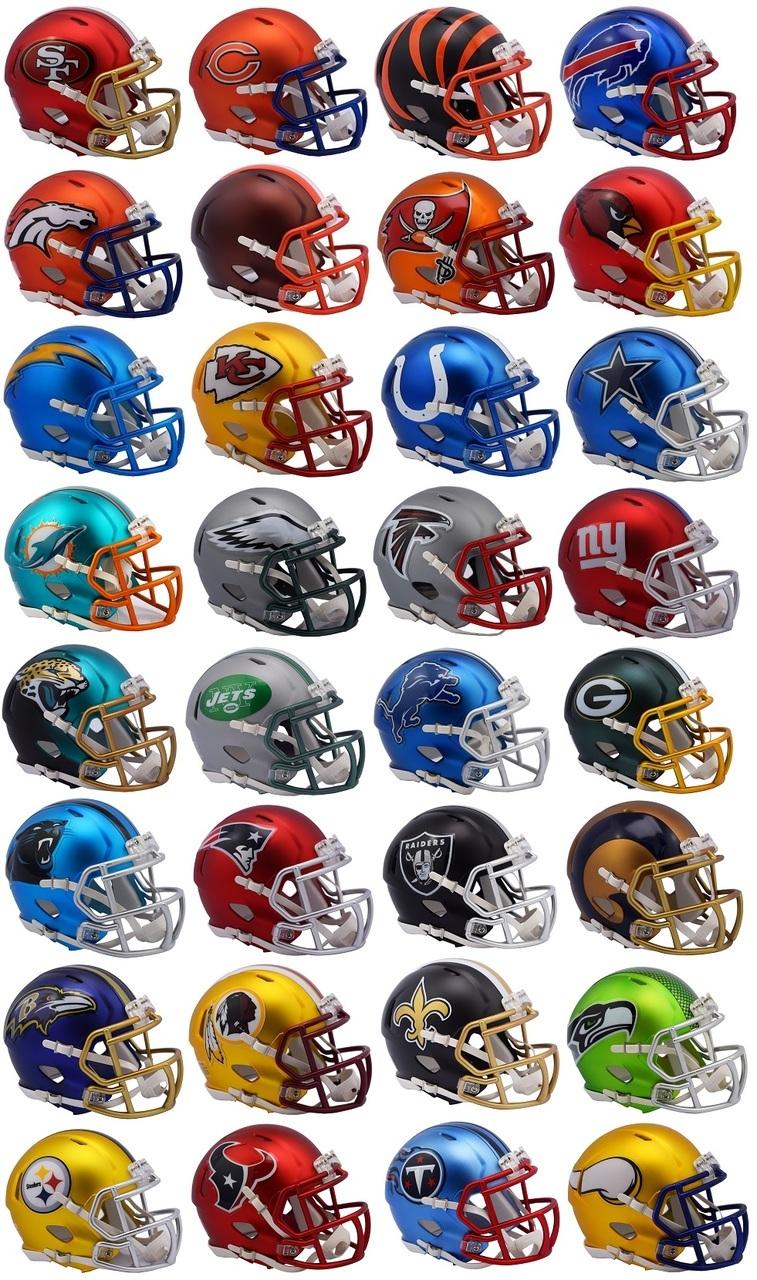 Riddell NFL Blaze Alternate Speed Mini Helmet Complete Set 32 eBay