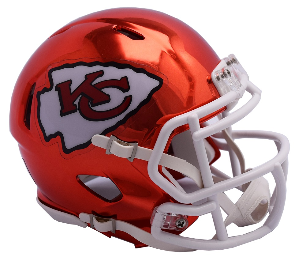 d5bd172a Details about Kansas City Chiefs Riddell Speed Mini Helmet - Chrome  Alternate