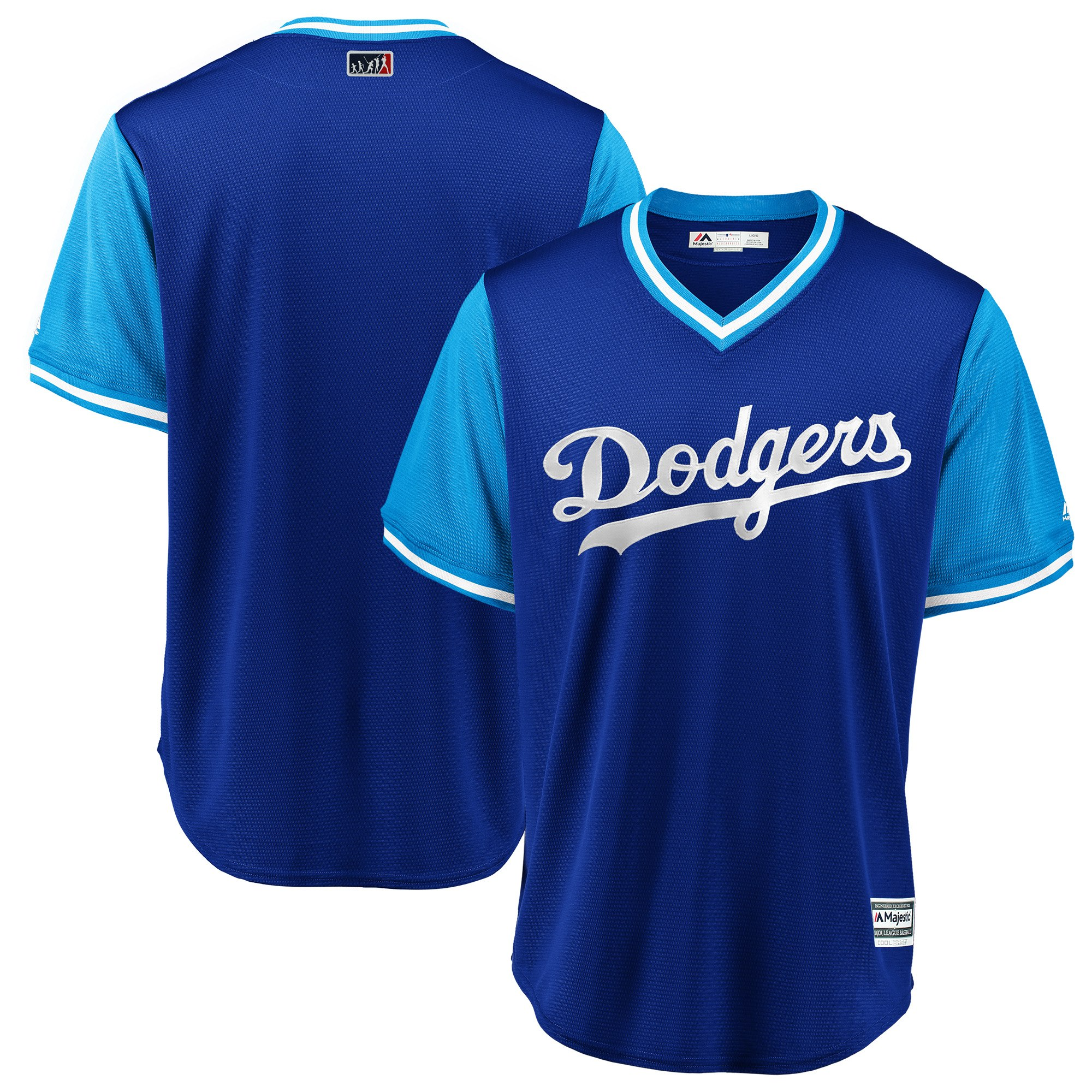 20e6117332c Los Angeles Dodgers Mens Jersey Majestic 2018 Players Weekend Royal Light  Blue