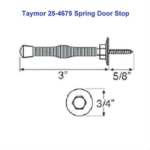 10-Pack Taymor 25-4675-AB Antique Brass Spring Door Stops with Fixed Screw
