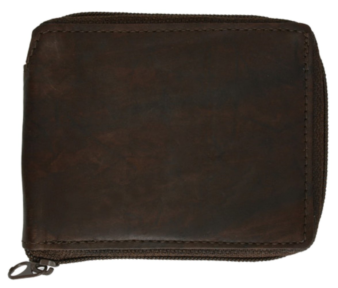 Leather-Men-039-s-Wallet-with-All-Around-Zipper thumbnail 5