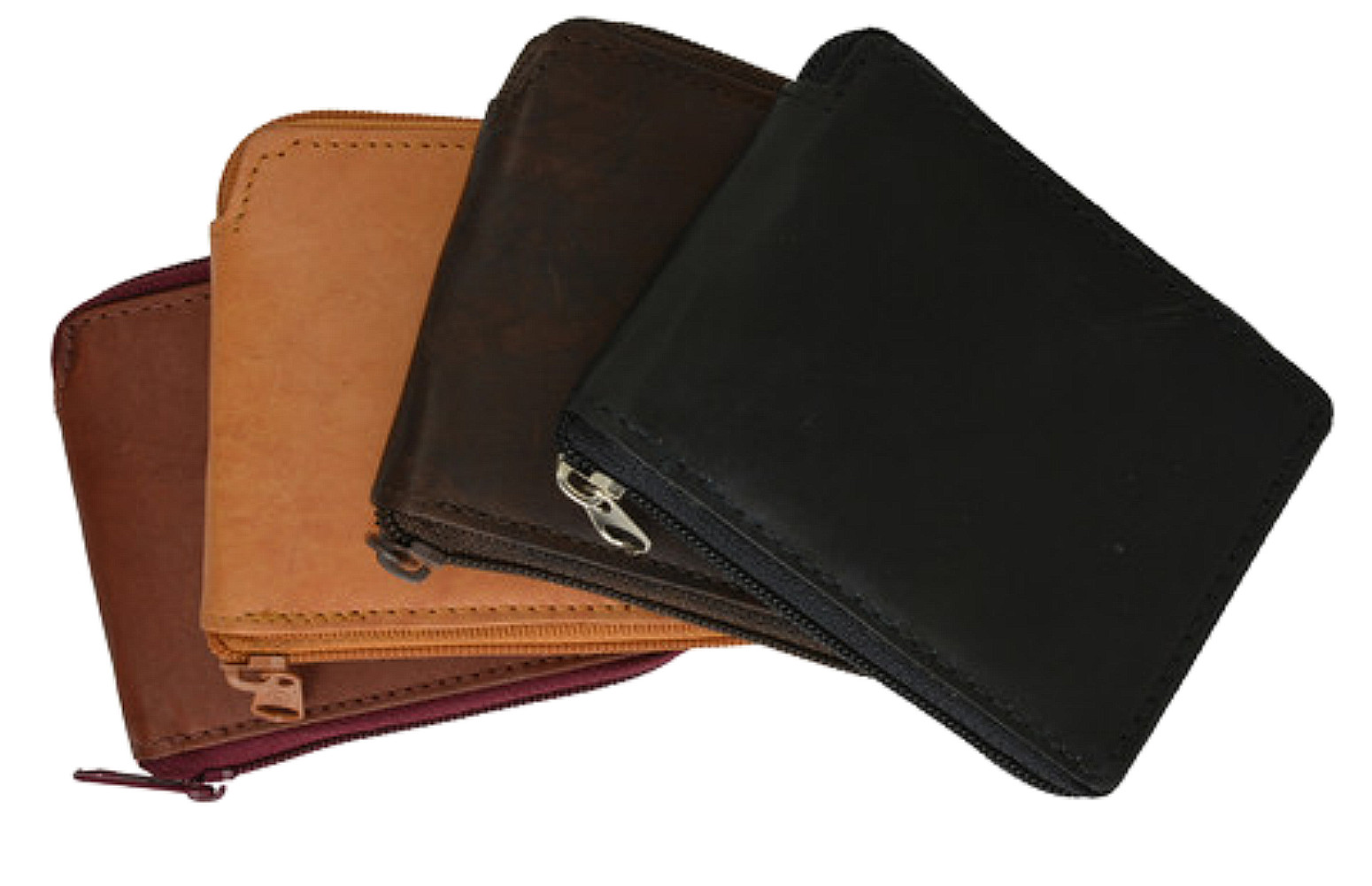 Leather-Men-039-s-Wallet-with-All-Around-Zipper thumbnail 6