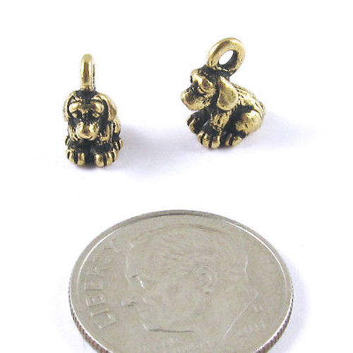 5 Or 10PCs Shih Tzu Puppy Dog Charms 16mm Gold Plated Charms C2188-2
