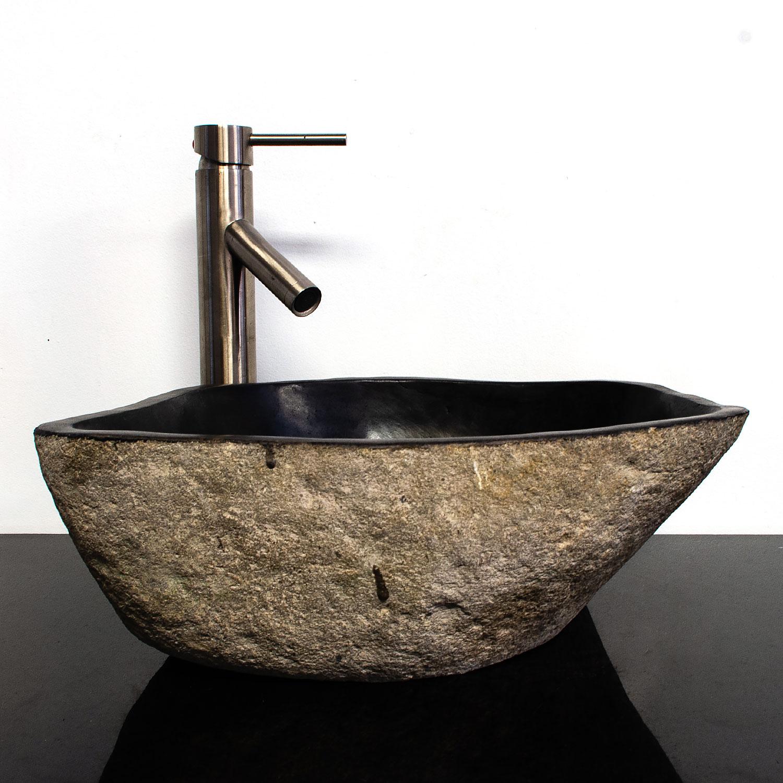 Details About River Stone Granite Boulder Vessel Sink Bathroom Vanity Rsjb 13