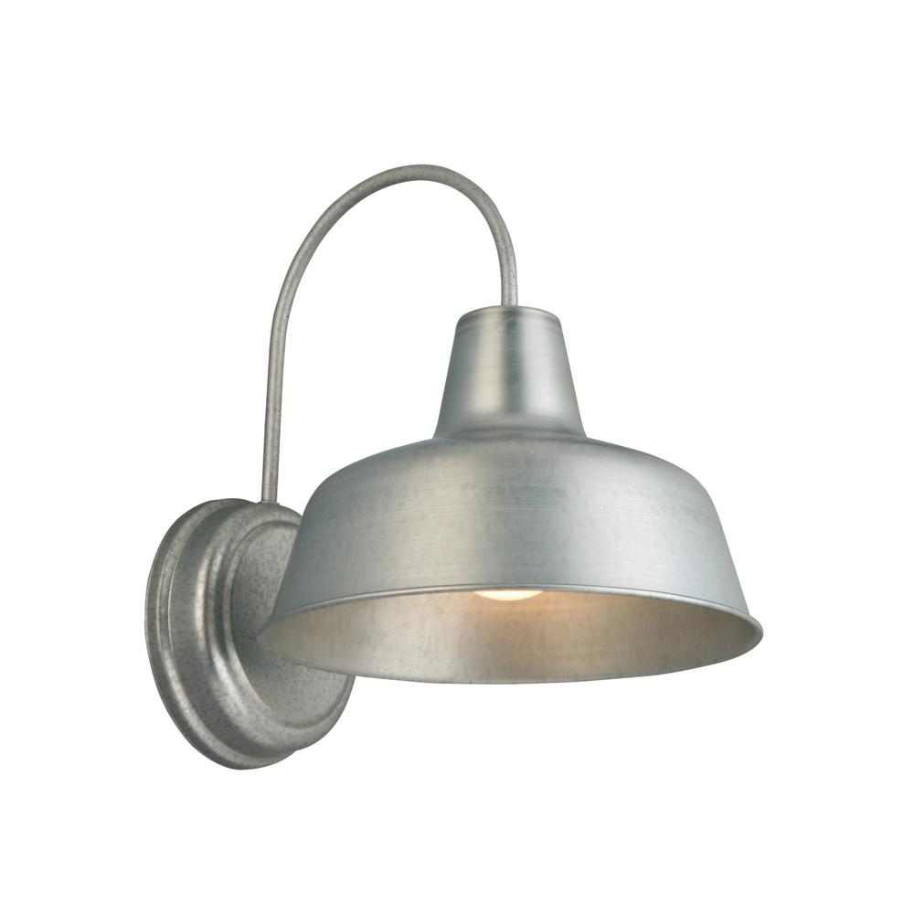 Design House Mason 1-Light Galvanized Outdoor Wall Sconce 57