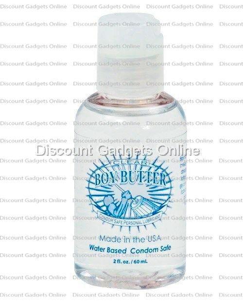 Boy Butter Clear Invisagel Anal Lube Water Based Personal Lubricant for Men  2oz