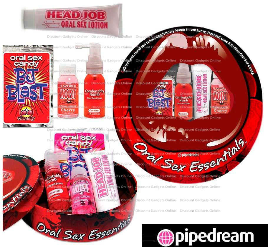 Oral Sex Essentials Kit Complete Blow-Job Sex Toy Set for Couples NEW