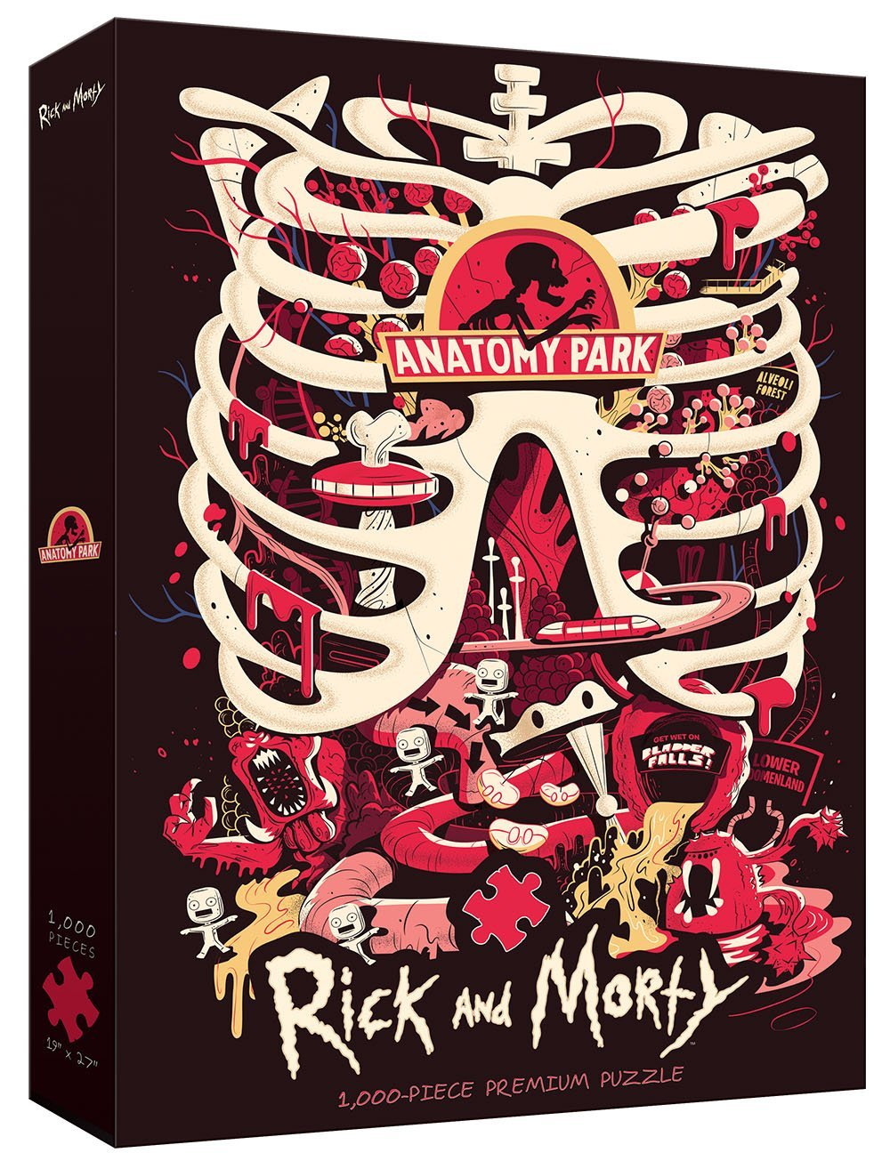 Rick And Morty Anatomy Park 1000 Piece Jigsaw Puzzle 700304048998 Ebay