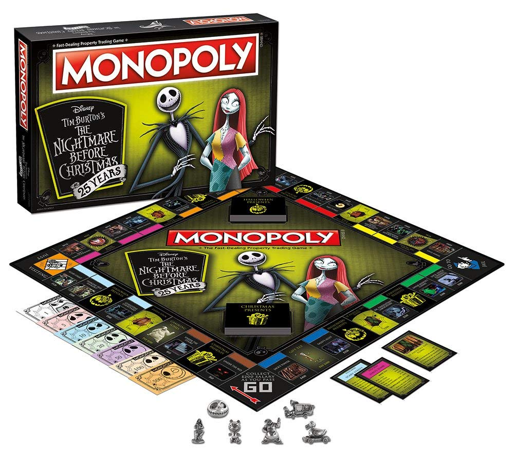 Monopoly The Nightmare Before Christmas Edition Board Game ...