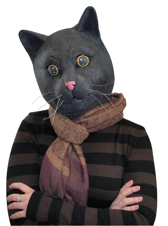Big Mouth Toys Black Jack The Cat Costume Mask