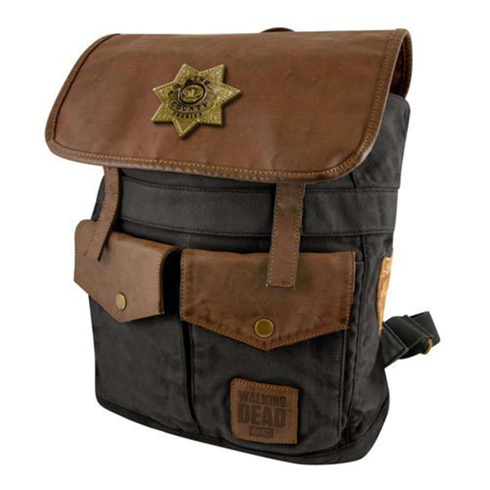672f9cc67a5f Details about The Walking Dead Rick Sheriff Backpack