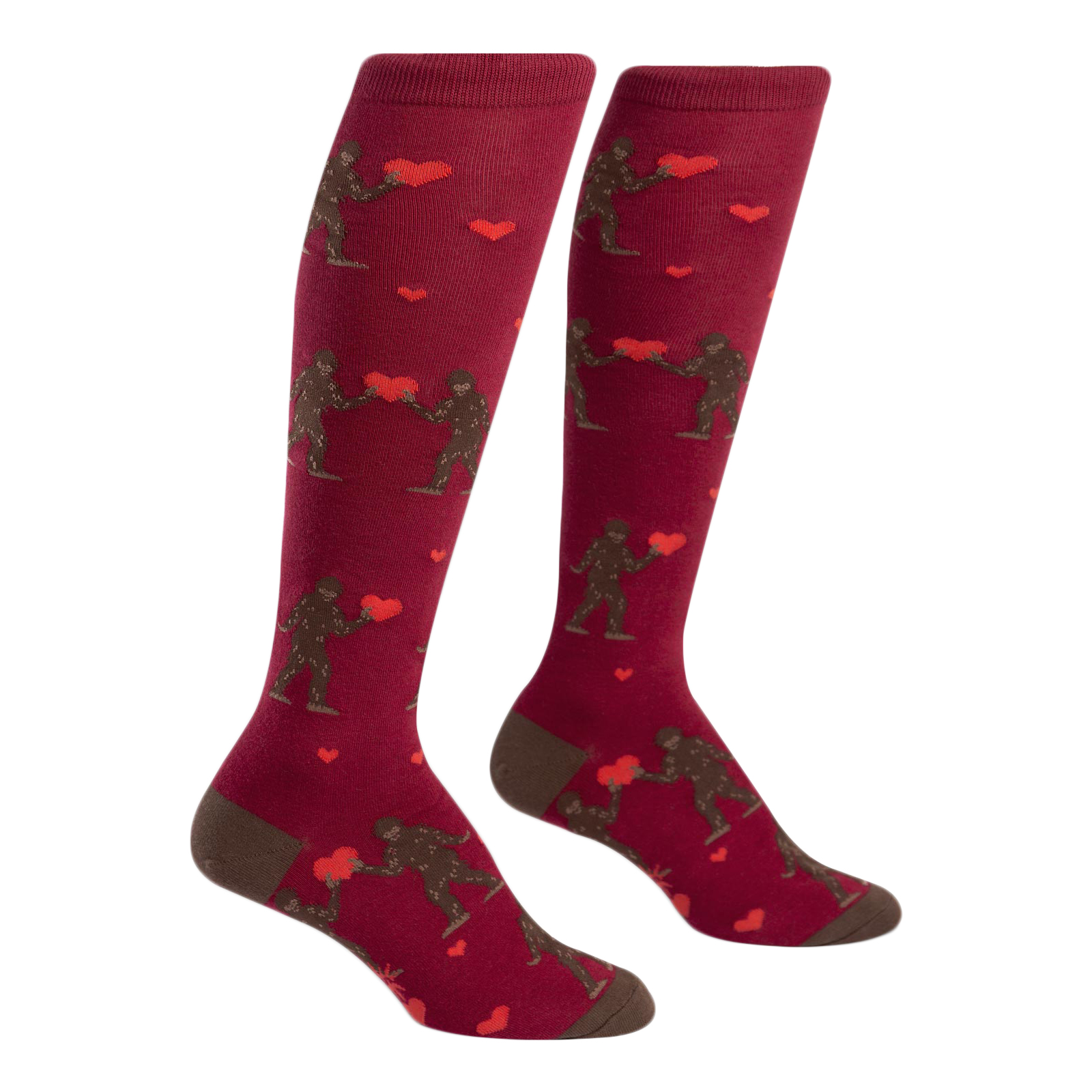 07bdd1ce0 Sock It To Me Sasquatch Valentine Funky Knee High Socks 817196018128 ...