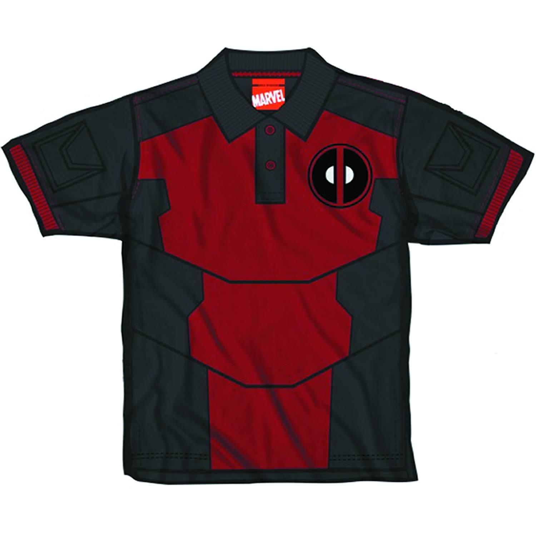 b58bae8c1 Deadpool Pool Polo Mens Red T-Shirt | eBay