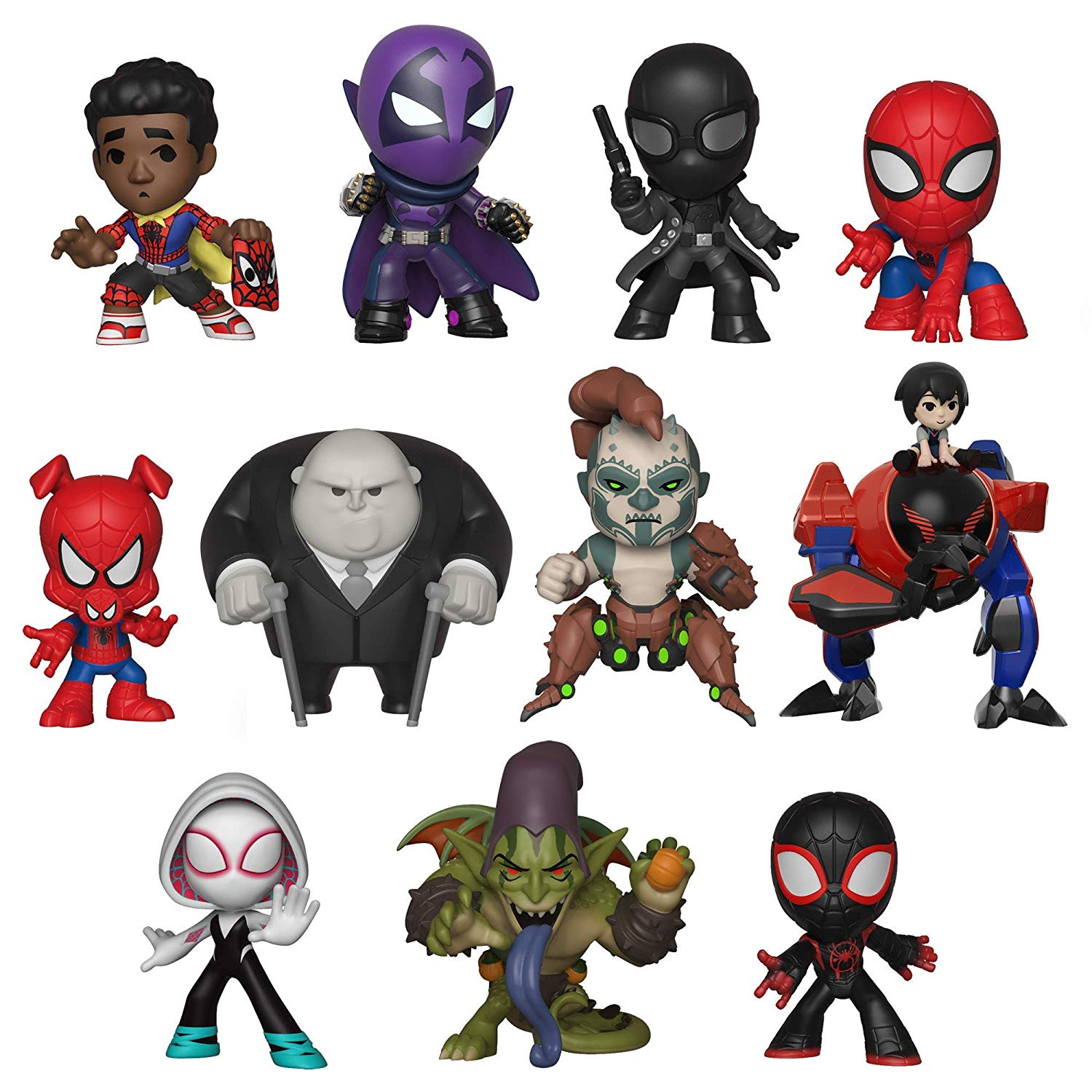 SPIDER-MAN Funko Mystery Minis Into The Spider-Verse
