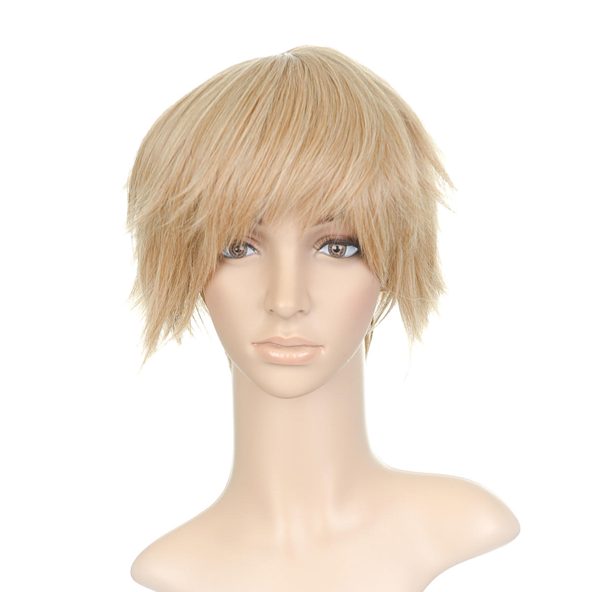 Sandy Blonde Styled Short Length Anime Cosplay Costume Wig ...