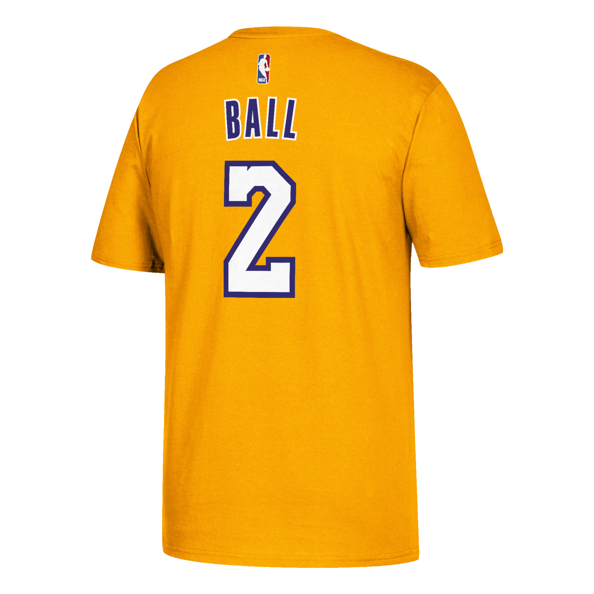 13e9b34c82d Los Angeles Lakers Lonzo Ball adidas Player T-Shirt Gold