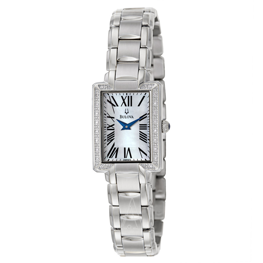 Bulova Women s Fairlawn Stainless Steel Diamond Dress Watch 96R160